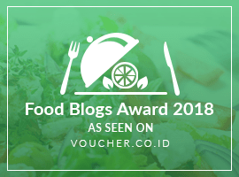 Banners for Food Blogs Award 2018
