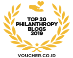 Banners for Top 20 Philanthropy Blogs 2019
